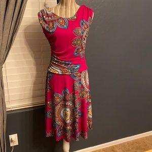 2/$15 Enfocus studio pink and blue dress